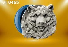 Силиконовый молд  Медведь (медальон)  № 0465