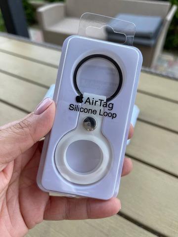 Чехол для Airtag Silicon loop /white/