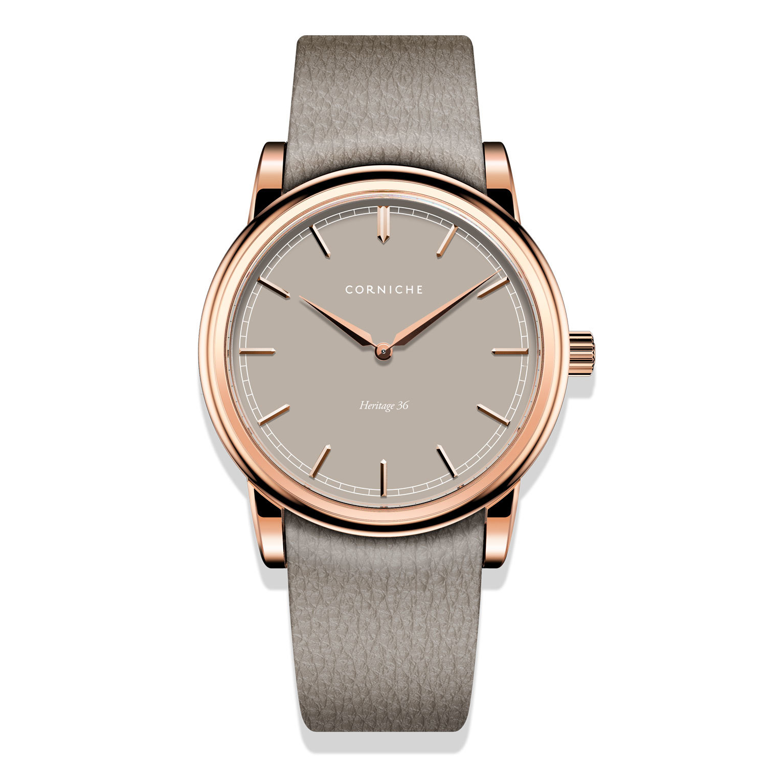 Corniche Heritage 36 Rose Gold with Taupe Dial