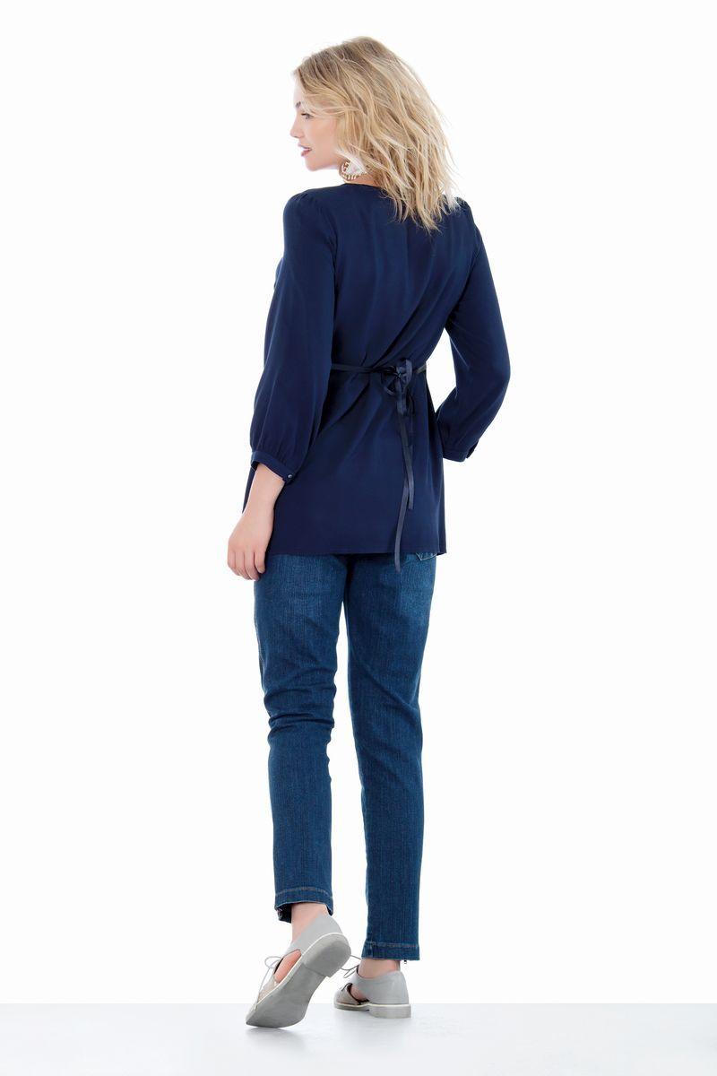 Блузка для беременных 01401 синий