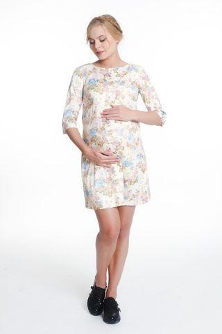 Платье для беременных 05436 бежевый