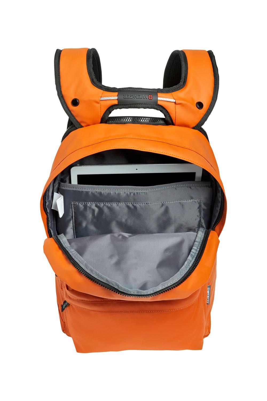 Рюкзак WENGER Photon с водоотталкивающим покрытием, цвет оранжевый, отделение для ноутбука 14