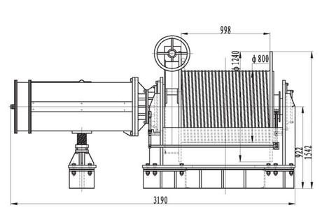 Компактная электрическая лебедка IDJ456-150-300-36 (36)