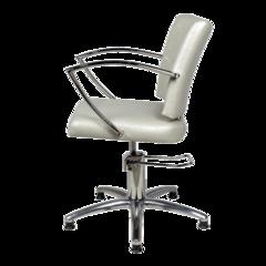 Парикмахерское кресло Памела гидравлика хром, пятилучье хром на подпятниках