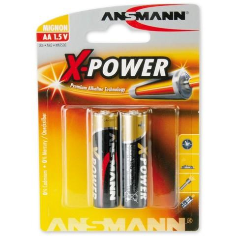 Батарейка  X-POWER АА/ANSMANN  1.5V - 2шт