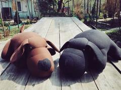 Мягкая игрушка-подушка Gekoko «Мохнатый Патрик Черный» 2