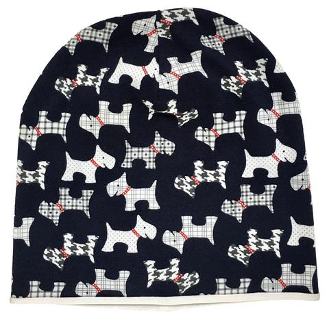 Детская шапочка бини с собачками
