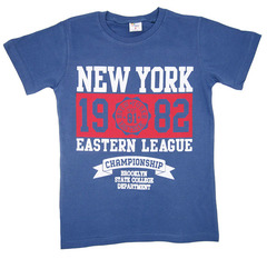 2648-2 футболка детская, сине-серая