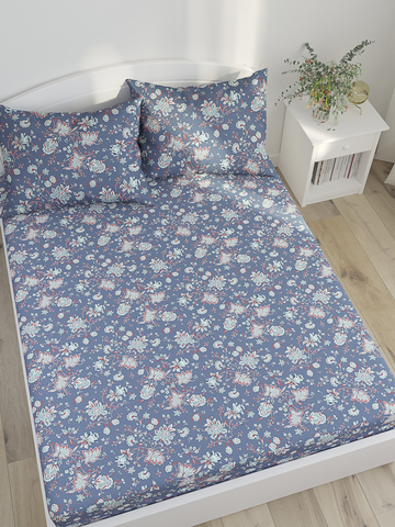 Простынь на резинке  -Фантазия- натяжная 160х200х26 см 2-спальная