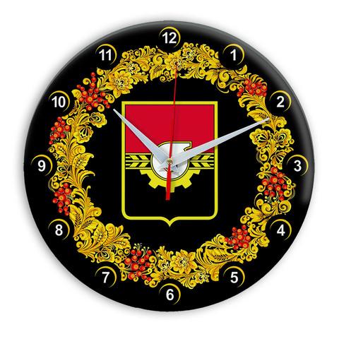 Часы в стиле Хохлома сувенирные Кемерово 03