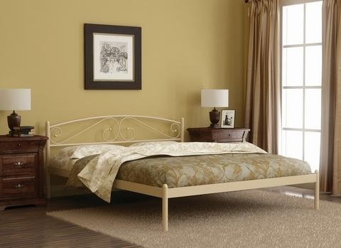 Кровать двуспальная Валерия металлическая 160х200 белый