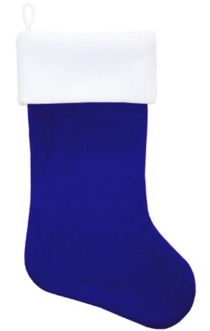 Рождественский носок синий