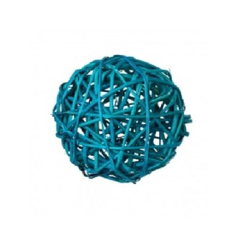 Плетеные шары из ротанга (набор:6 шт., d8см, цвет: бирюзовый)