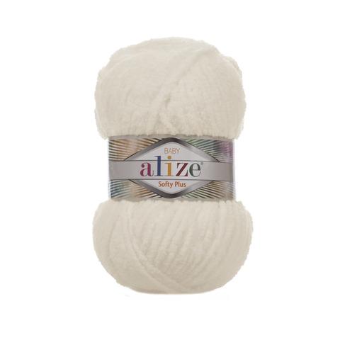 Купить Пряжа Alize Softy Plus Цвет 62 Молочный | Интернет-магазин пряжи «Пряха»