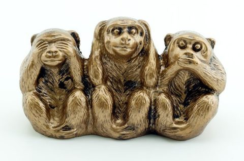 Три обезьяны полистоун
