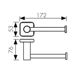 Держатель для туалетной бумаги KAISER Vera BR KH-4720 схема