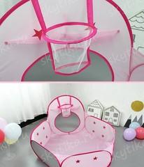 Ракета Розовая 3в1, палатка+туннель+бассейн