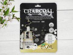 270156 EKEL Тканевая маска для лица экст. древесного угля Charcoal
