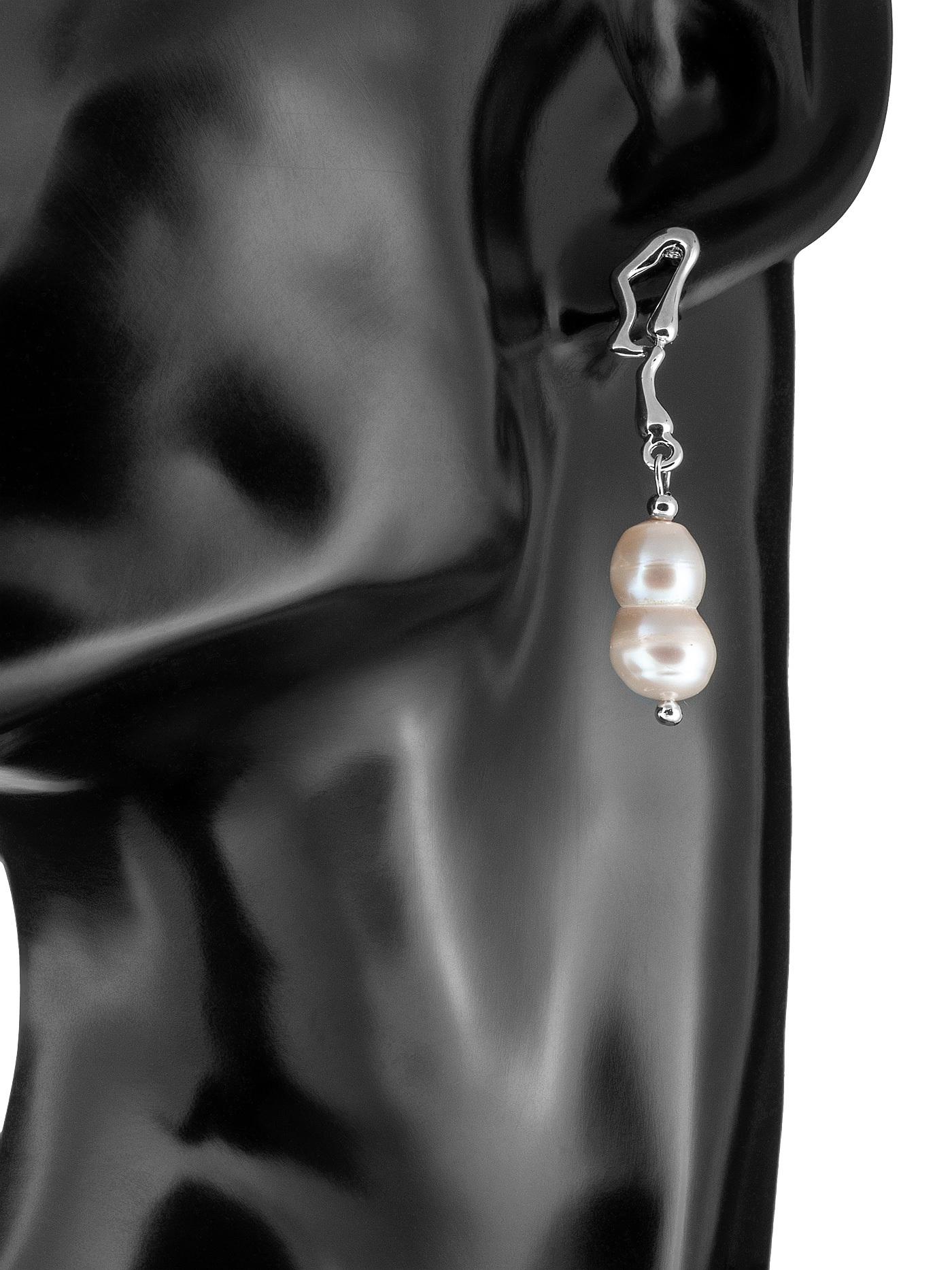 Асимметричные серьги с барочным жемчугом, стильные подарки