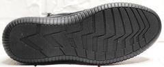 Модные ботинки кеды на толстой подошве женские Evromoda 535-2010 S.A. Black.