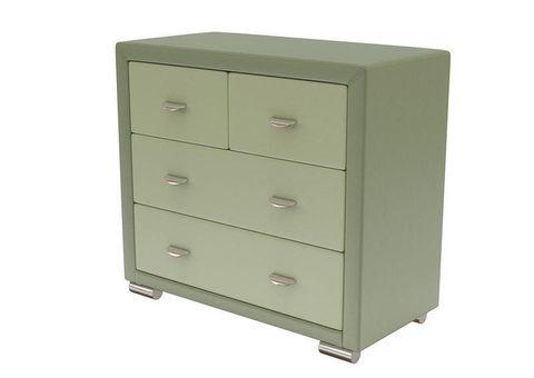 Комод Orma Soft 2 (4 ящика) Экокожа Олива+Зеленое Яблоко