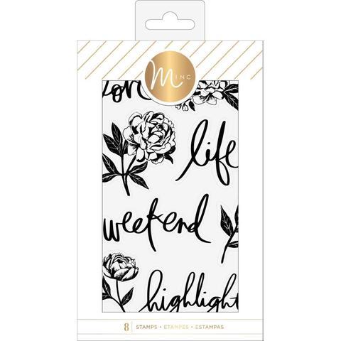 Силиконовые штампы Heidi Swapp Minc Clear Stamps -Floral