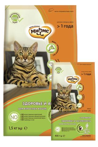 Сухой корм Мнямс Active Life с кроликом для взрослых кошек