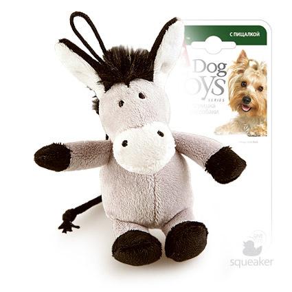 75104 Игрушка для собак gigwi Ослик с пищалкой