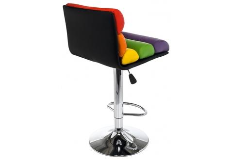 Барный стул Color 40*40*88 - 109,5 Цветной кожзам /Хромированный металл каркас