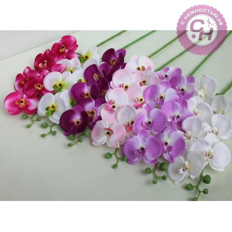 Орхидея искусственная на ветке, 7 голов, 94 см, 1 шт.