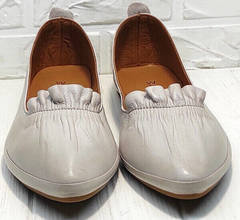 Модные балетки туфли с острым носом на маленьком каблуке Wollen G036-1-1545-297 Vision.