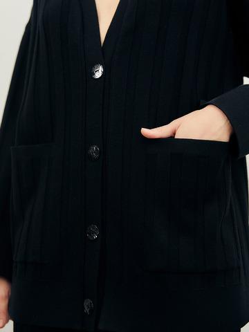 Женский кардиган черного цвета из вискозы - фото 5