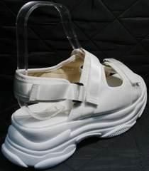 Модные спортивные босоножки женские Small Swan PM23-3 White.