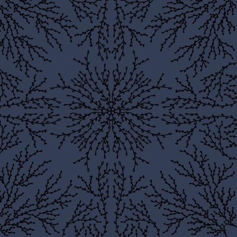 Веточки (тёмно-синий)