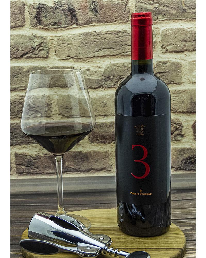 Вино Poggio Verrano Поджио Верано 3 Красное Ссухое 2010 г.у. 14% 0,75 л.