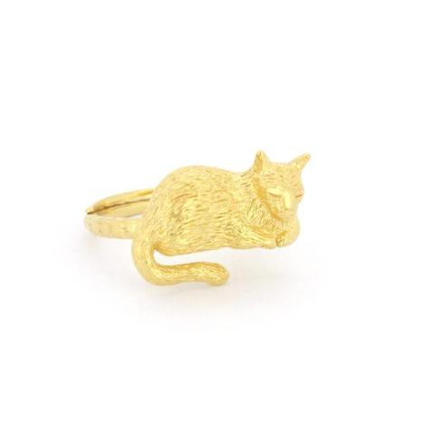 Кольцо Спящий Котик