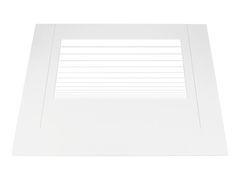 Стекло внешнее дверки духовки плиты ЛЫСЬВА, белое 03041150416, Д400.1163