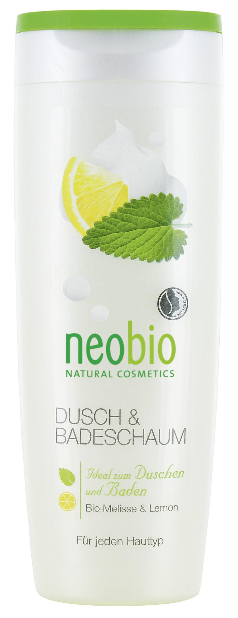 NEOBIO пена для душа и ванны с био-мелиссой и лимоном