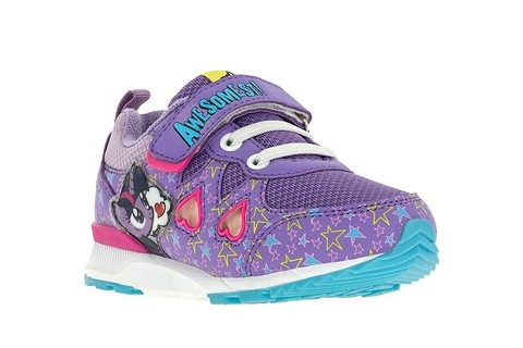 Светящиеся кроссовки Мой Маленький Пони (My Little Pony) на липучках для девочек, цвет сиреневый. Изображение 5 из 5.