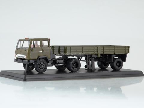 KAZ-608V with semitrailer ODAZ-885 khaki 1:43 Start Scale Models (SSM)