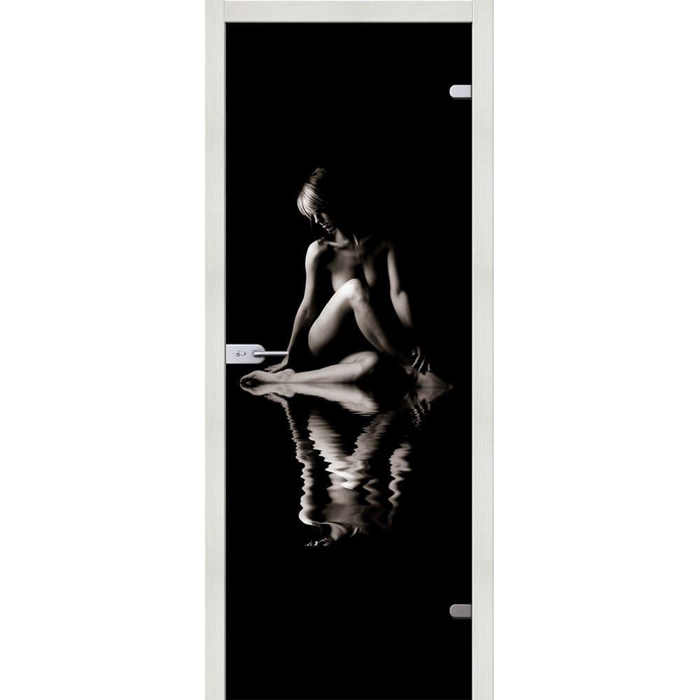 Стеклянные межкомнатные двери Межкомнатная стеклянная дверь АКМА Woman триплекс фотопечать woman-esh-vait-melinga-dvertsov.jpg