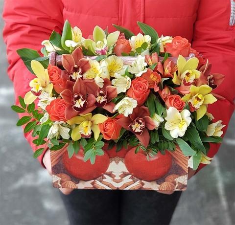 Ящик с цветами Январь 2