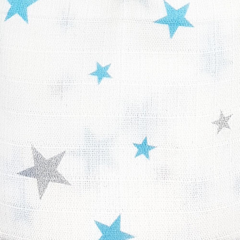 Муслиновая пеленка Adam Stork Blue Stars 2