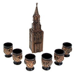 Штоф с рюмками «Кремль», 7 предметов 1,3 л, фото 2
