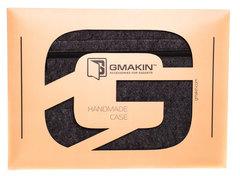 Темный горизонтальный чехол на молнии Gmakin для Macbook