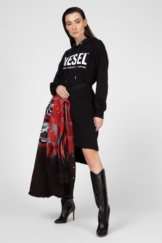 Женское черное платье-худи D-ILSE-T Diesel