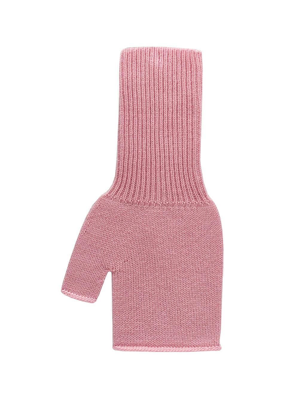 Женские митенки светло-розового цвета из 100% кашемира - фото 1