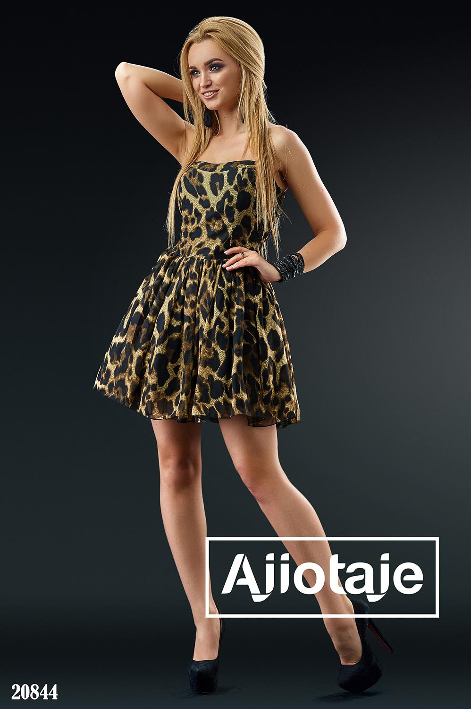 Шифоновое платье мини с пышной юбочкой