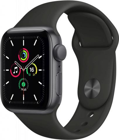 Умные часы Apple Watch SE, 40 мм, корпус из алюминия цвета «серый космос», спортивный ремешок