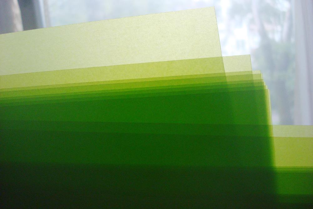 Калька цветная «Салатовая»
